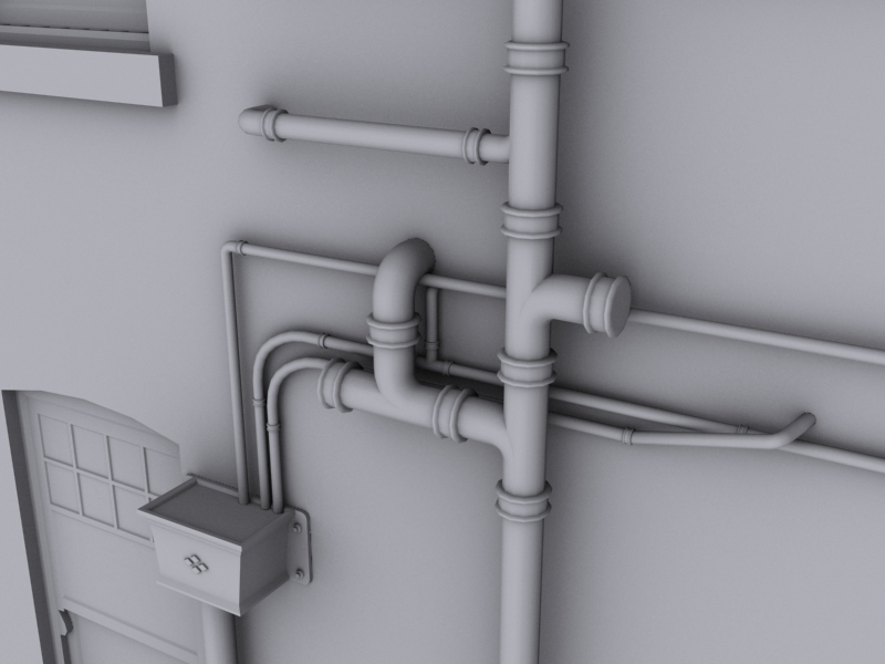 Leak detection and exterior pipe work