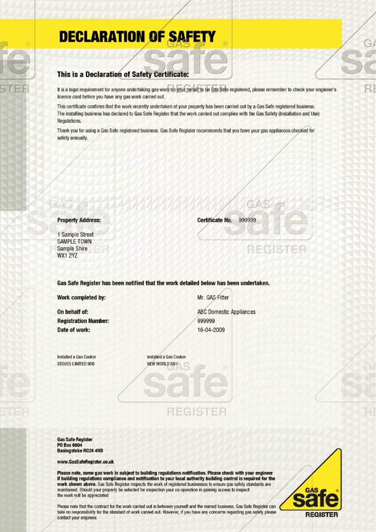 What S The Fuss About A Gas Safety Certificate Jps